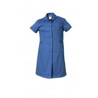 Blouse professionnelle femmes coton manches courtes